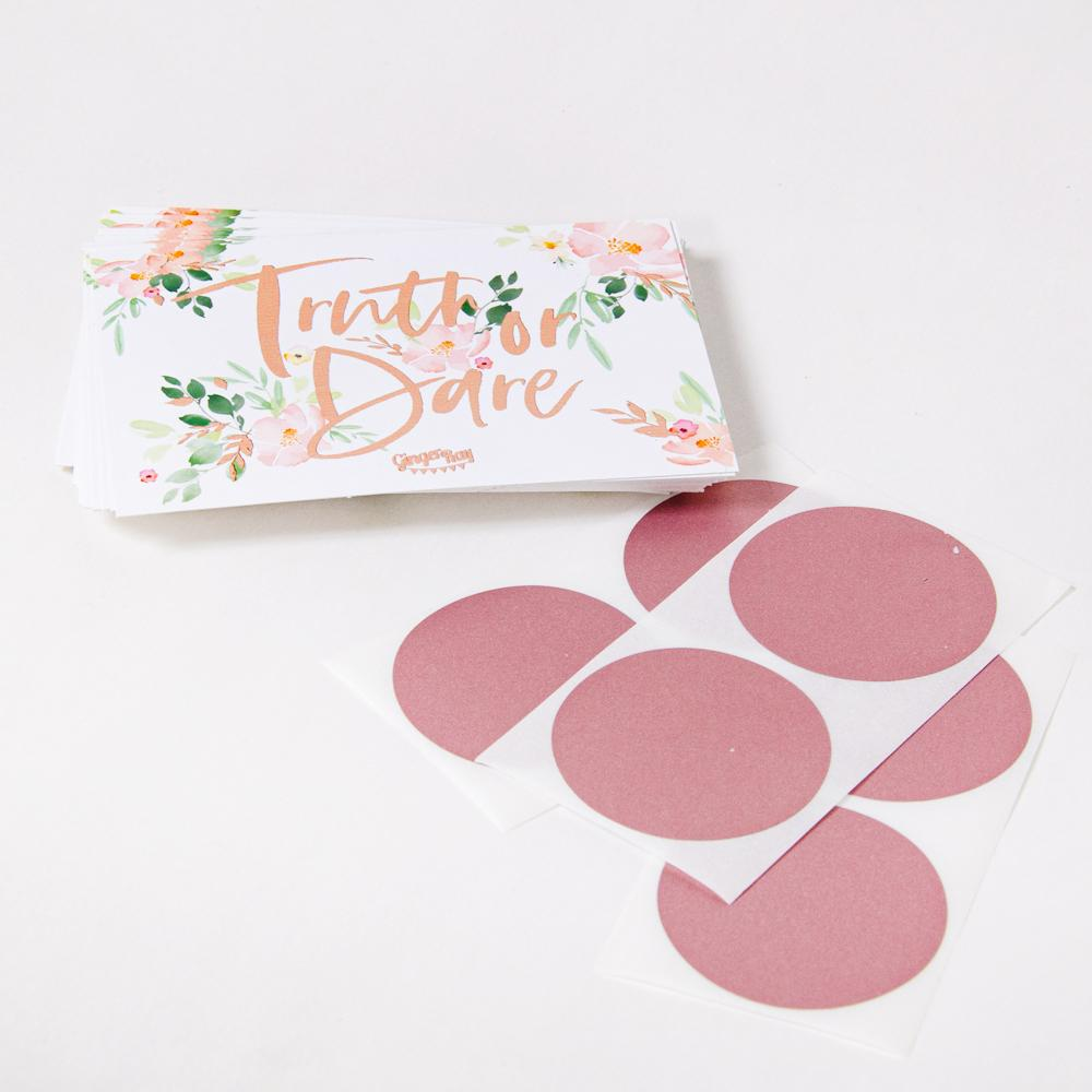 Click to view product details and reviews for Floral Hen Party Truth Or Dare Scratch To Reveal Game X25.