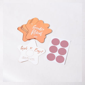 A set of rose gold foil scratch cards