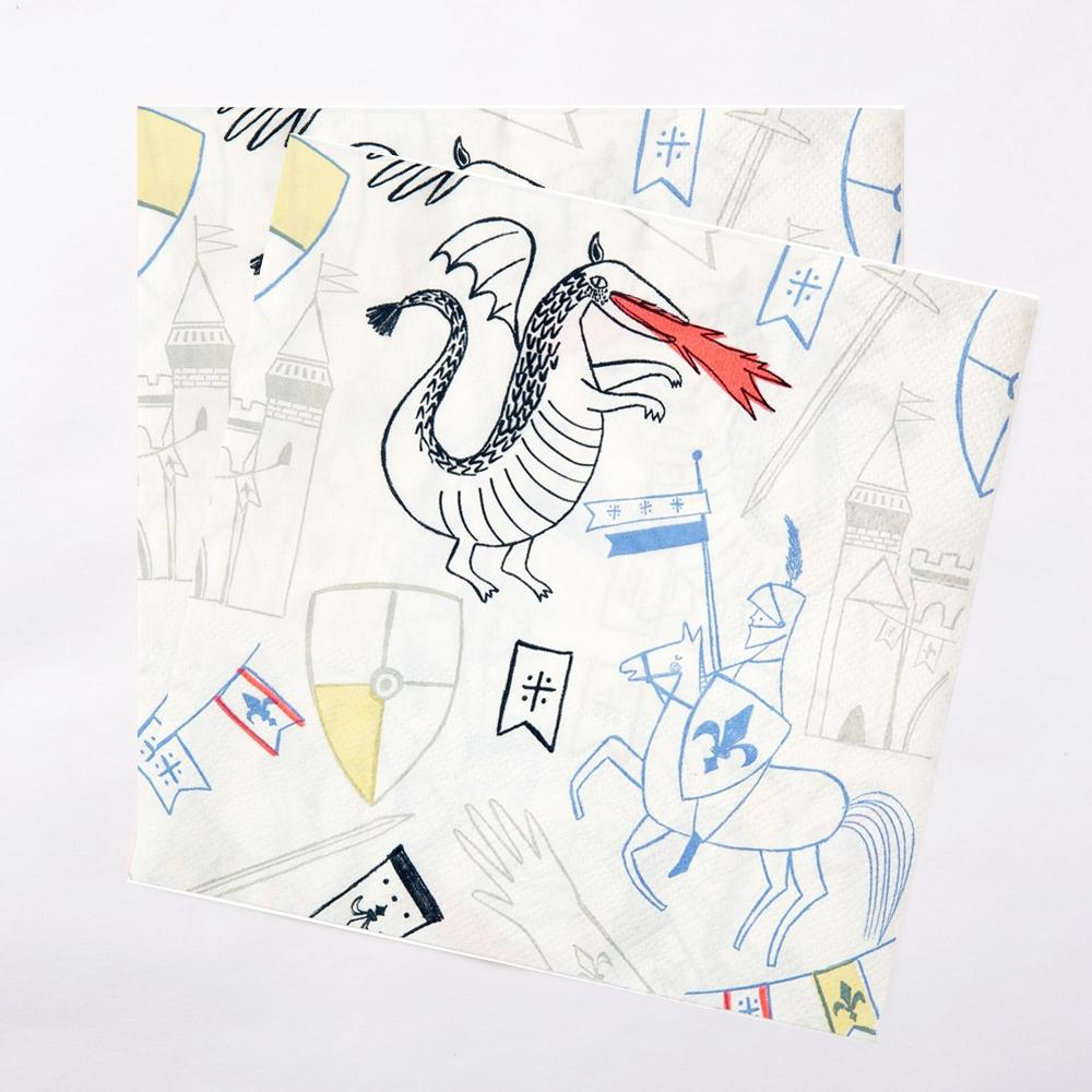 Click to view product details and reviews for Dragon Knight Party Party Napkins X20.