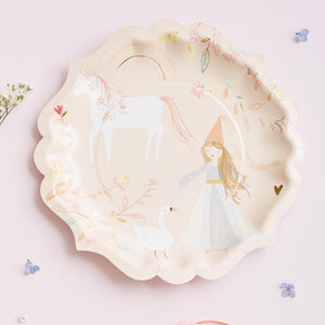 Magical Princess - Large Party Plates (x8)