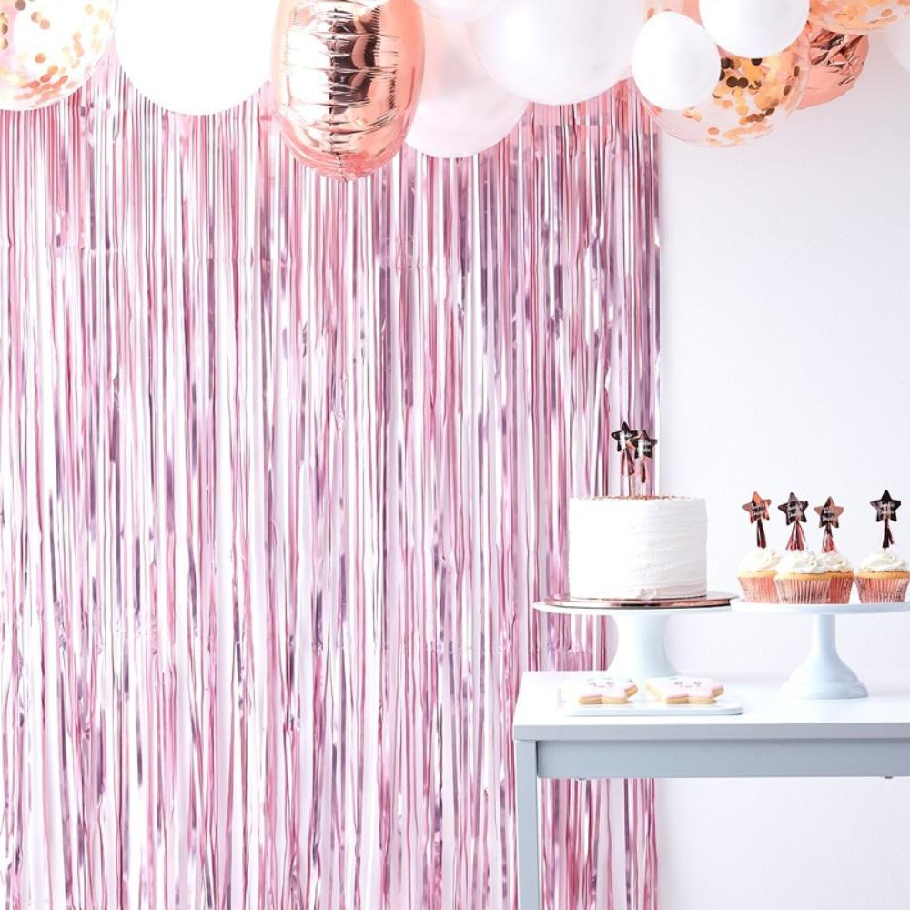 Twinkle Twinkle - Pink Fringe Party Curtain