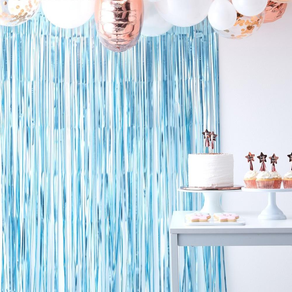 Fringe Backdrop Pale Blue