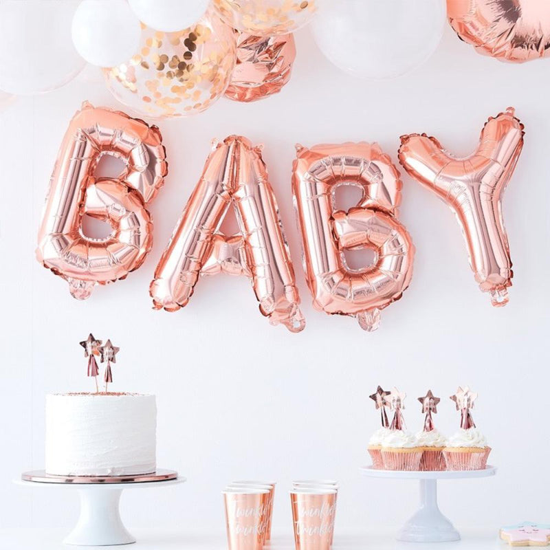 Twinkle Twinkle - Rose Gold Baby Balloon Bunting
