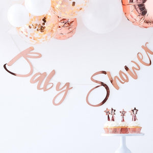 Twinkle Twinkle - Rose Gold Baby Shower Bunting