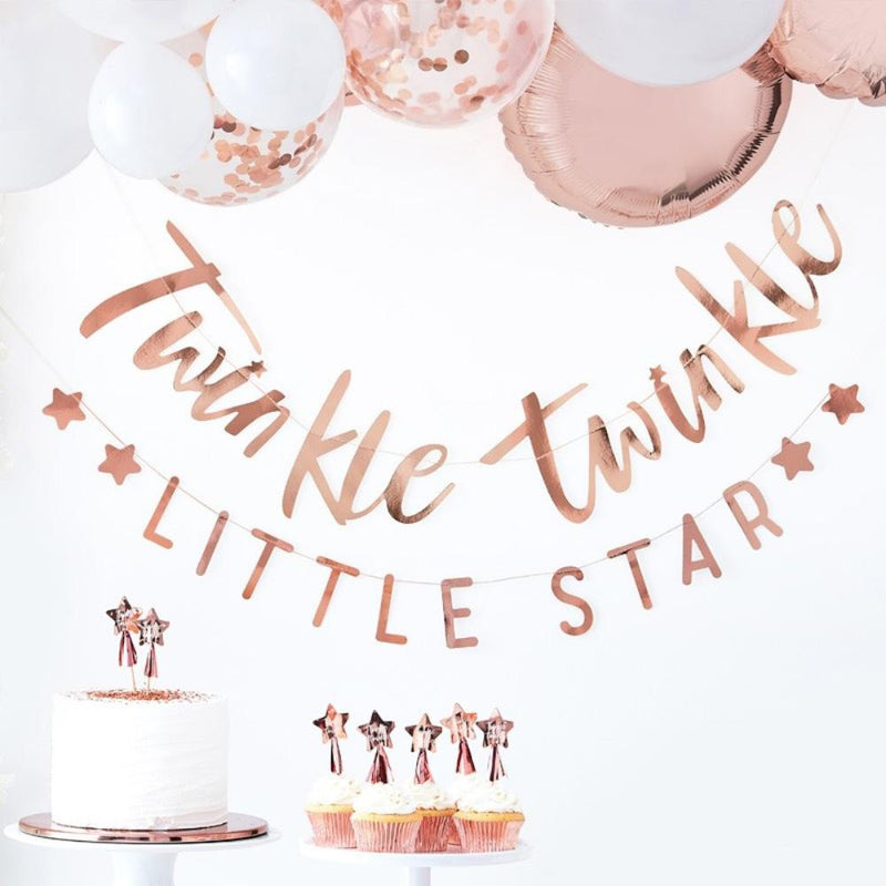 Twinkle Twinkle - Rose Gold Bunting (x2)