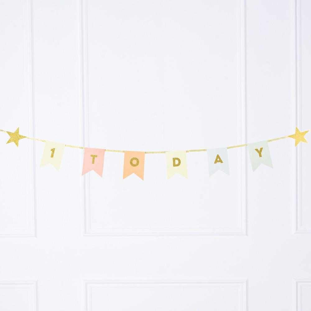We Heart Birthdays - 1st Birthday Party Garland