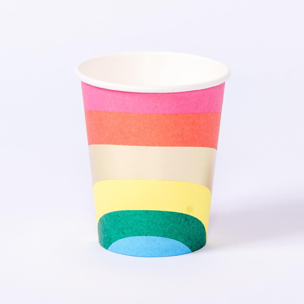 Birthday Brights Rainbow - Paper Cups (x12)