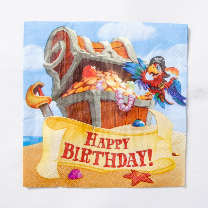 Pirate Treasure - Pirate Party Napkins (x16)