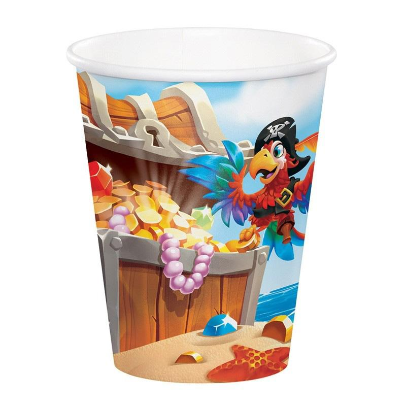 Pirate Treasure - Paper Party Cups (x8)