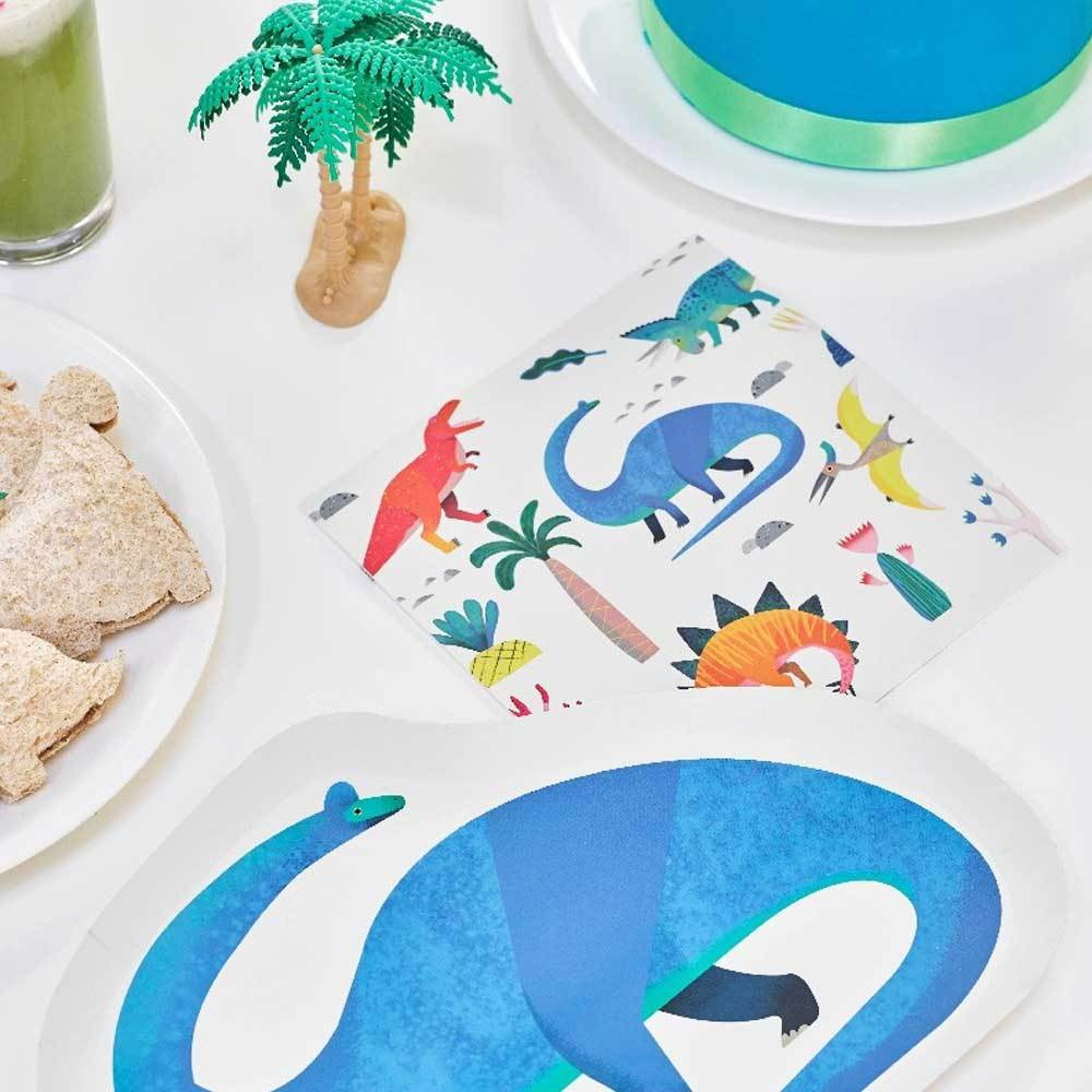 Party Dinosaur - Square Party Napkins (x20)