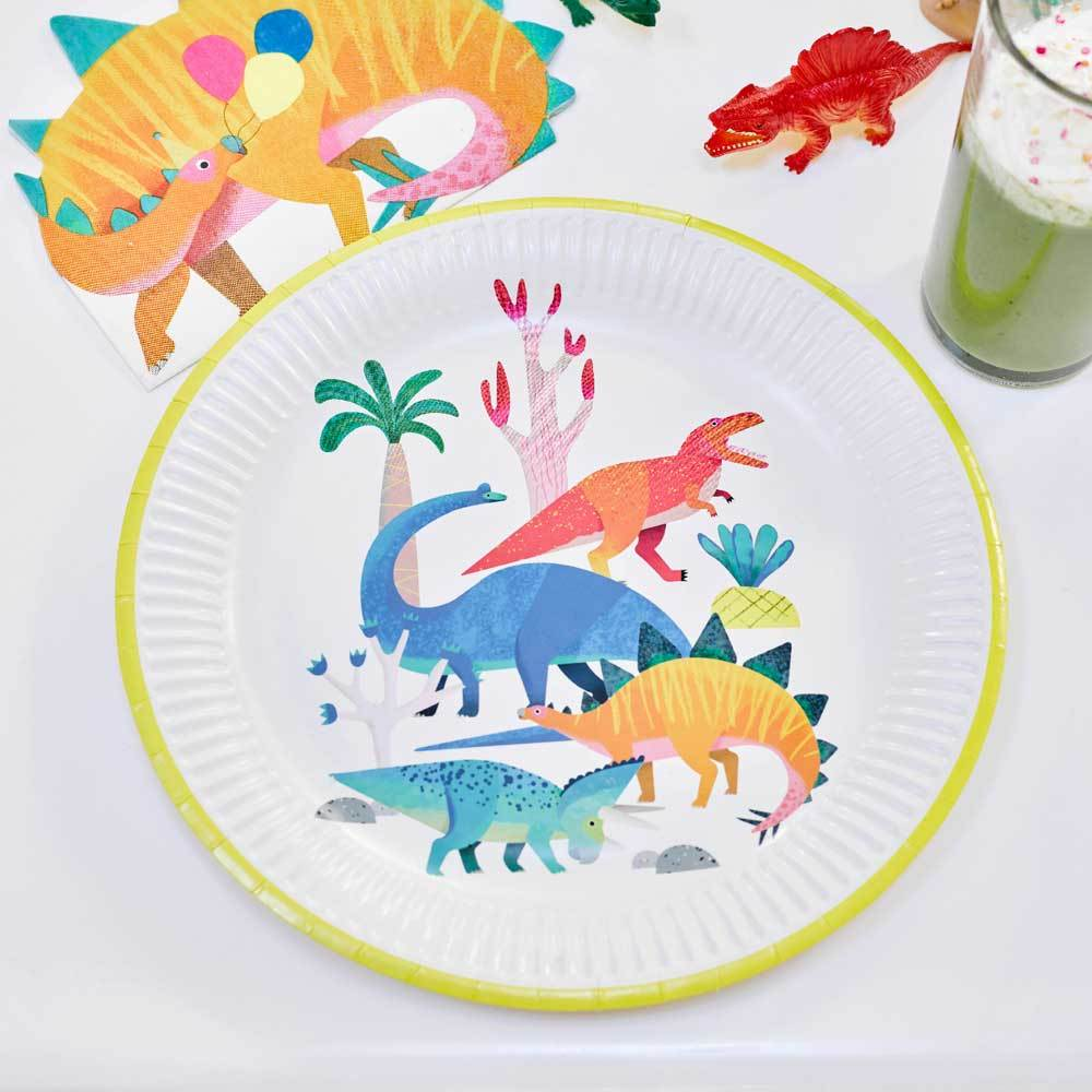 Party Dinosaur - Party Plates (x8)