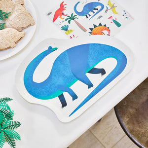 Party Dinosaur - Dinosaur Shaped Plates (x12)