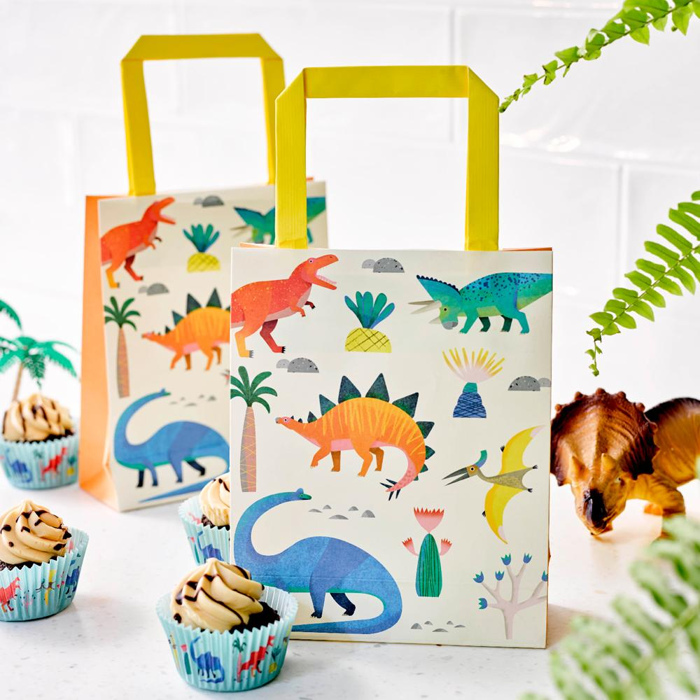 Party Dinosaur - Dinosaur Treat Bags (x8)