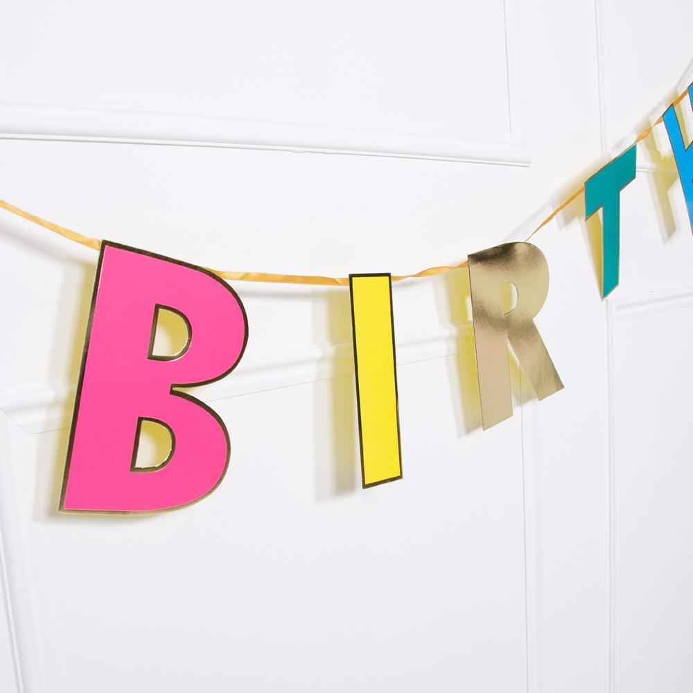 Birthday Brights Rainbow - Happy Birthday Garland
