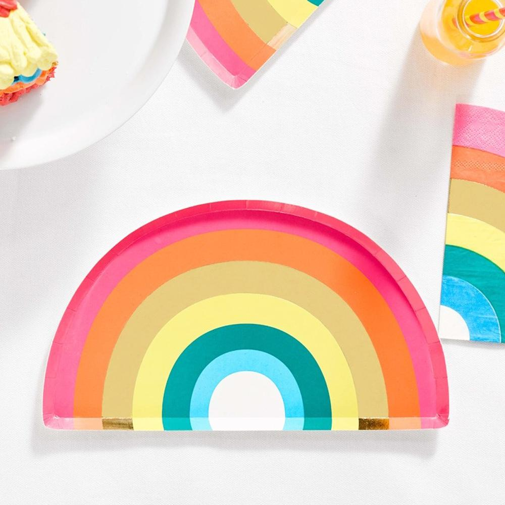 Birthday Brights Rainbow - Rainbow Party Plates (x12)