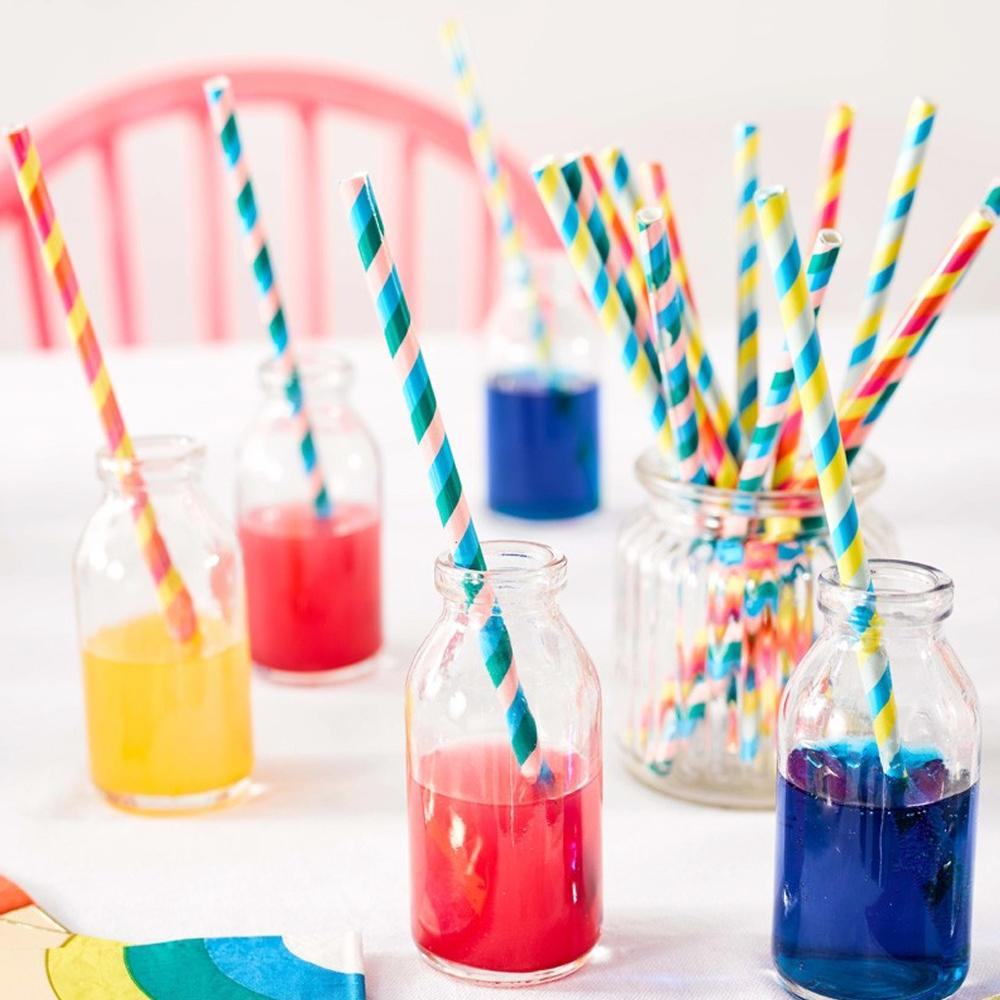 Birthday Brights Rainbow - Paper Straws (x30)