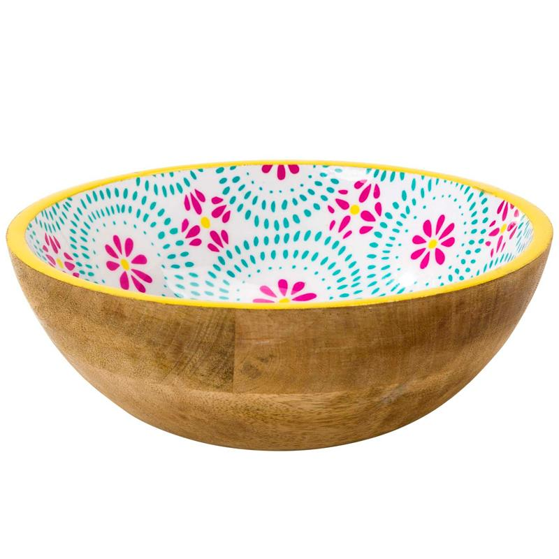 Boho Party - Mango Wood Salad Bowl Large