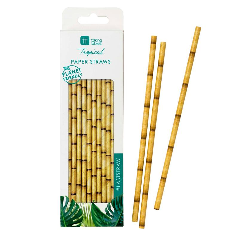 Eco Palm - Bamboo Paper Straws (x30)