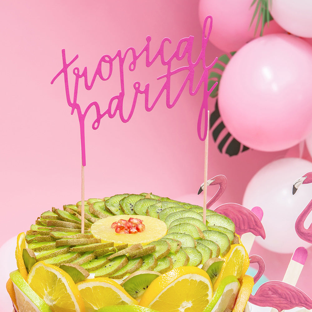 Tropical Party Cake Topper