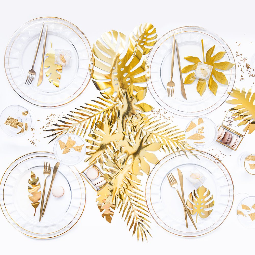 Aloha Gold Palm Leaves Decorations (x21)