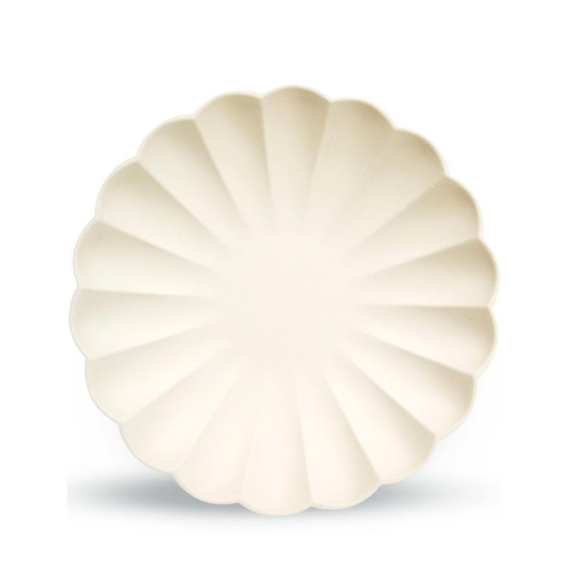 Simply Eco - Cream Small Scalloped Party Plates  (x8)