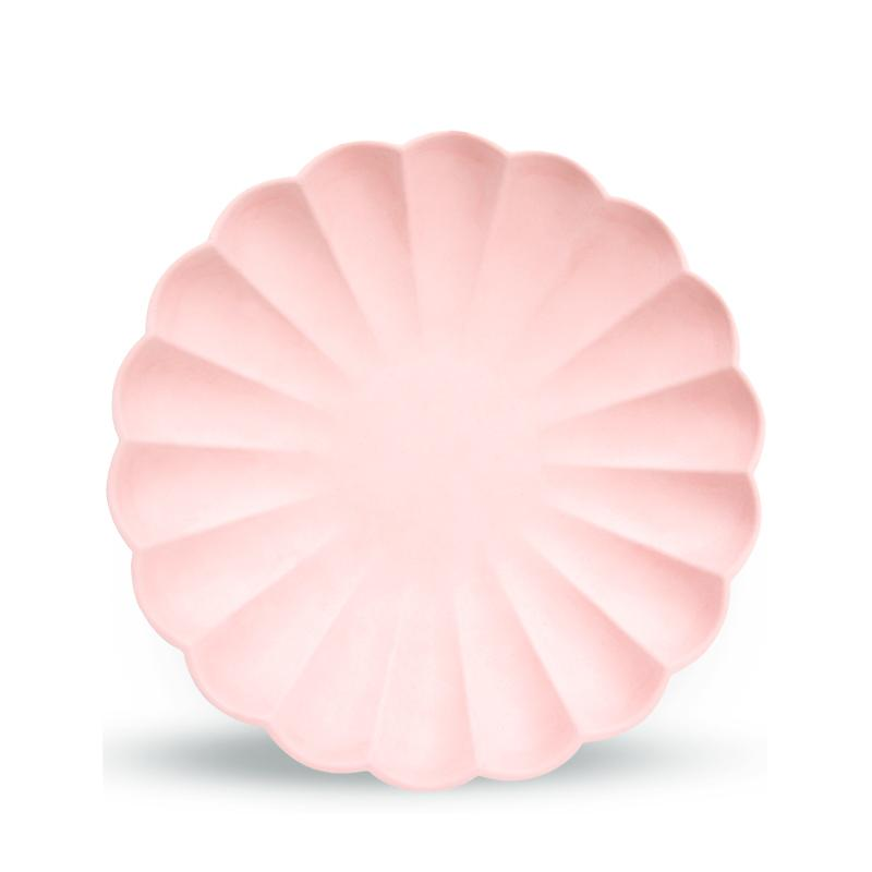 Simply Eco - Pale Pink Small Scalloped Party Plates (x8)