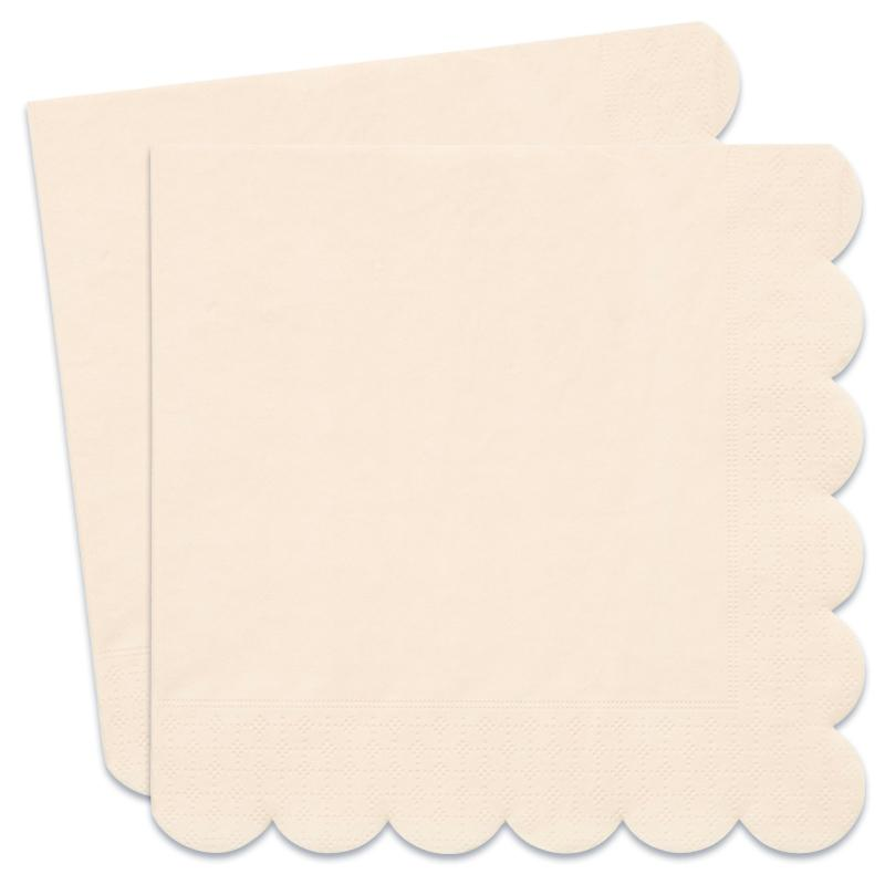 Simply Eco - Cream Scalloped Party Napkins (x20)