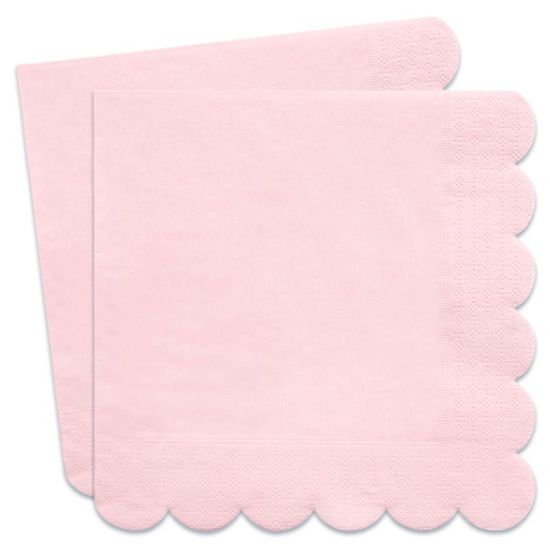 Simply Eco - Pale Pink Scalloped Party Napkins (x20)