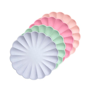 Simply Eco - Multicolor Small Scalloped Party Plates (x8)