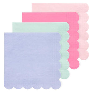 Simply Eco - Multicolor Scalloped Party Napkins (x20)