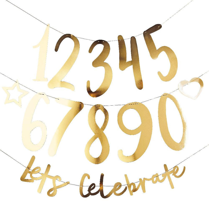 Create Your Own Birthday Banner - Gold