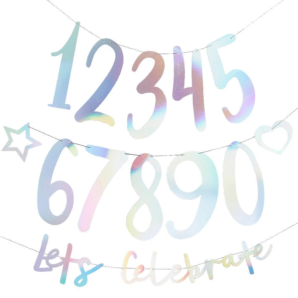 Create Your Own Birthday Banner - Iridescent