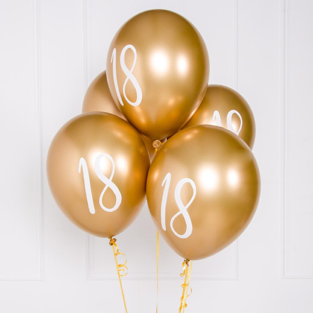 Click to view product details and reviews for Milestone Birthday Gold 18th Birthday Balloons X5.