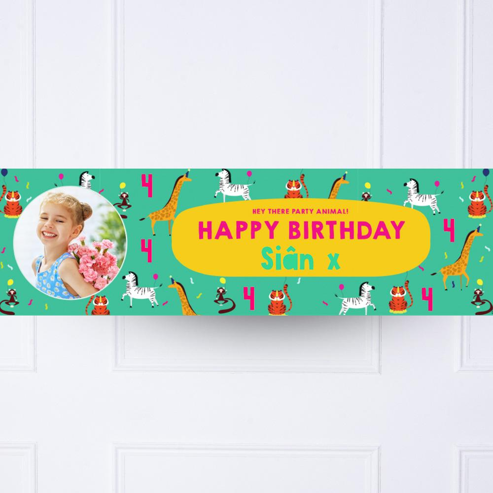 Click to view product details and reviews for Animal Party Personalised Party Banner.