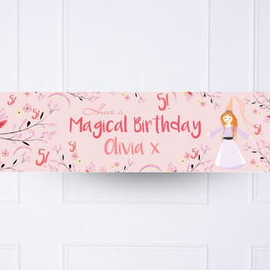Princess Magic Personalised Party Banner