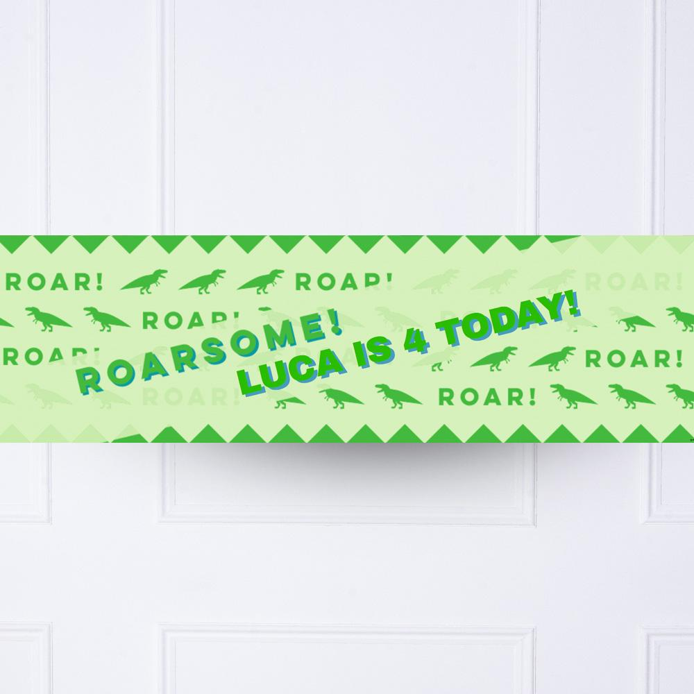 Let's Roar Personalised Party Banner