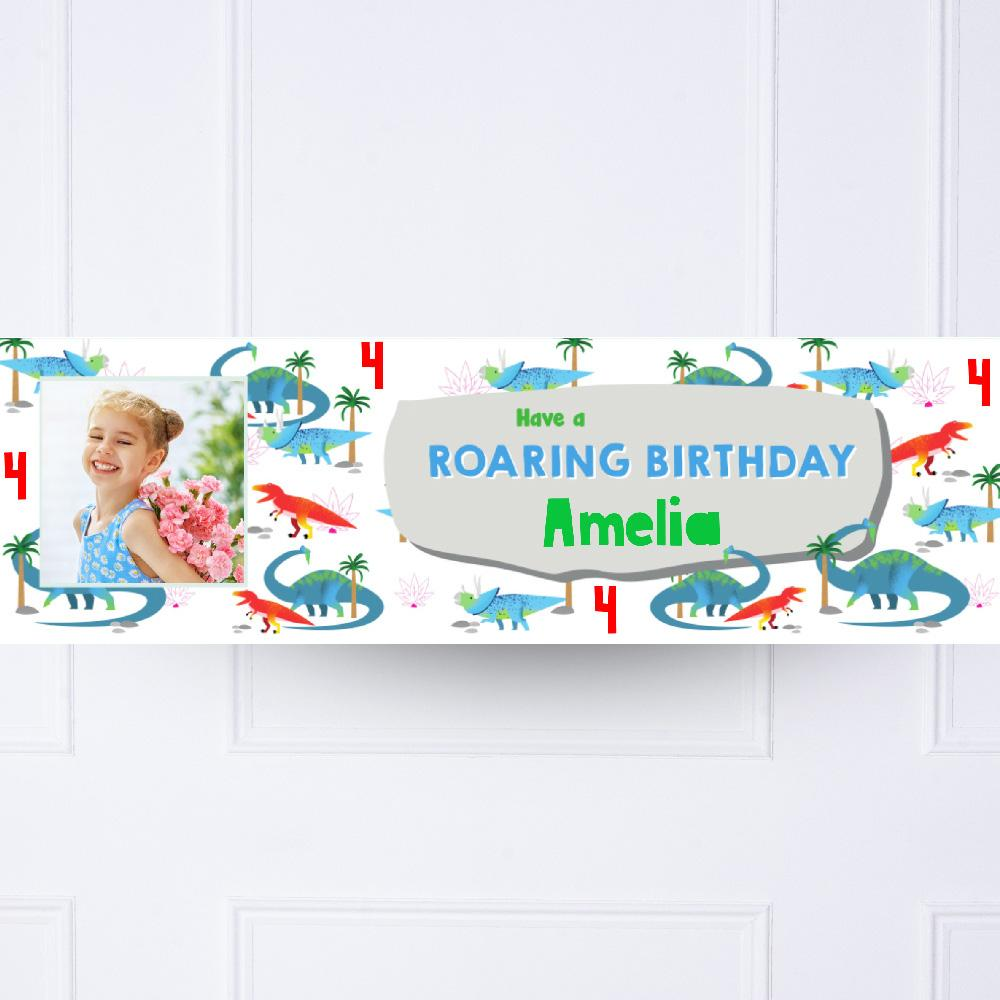 Party Dino Personalised Party Banner