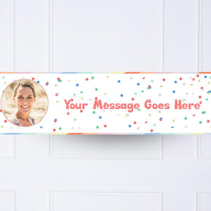 Rainbow Bright Personalised Party Banner