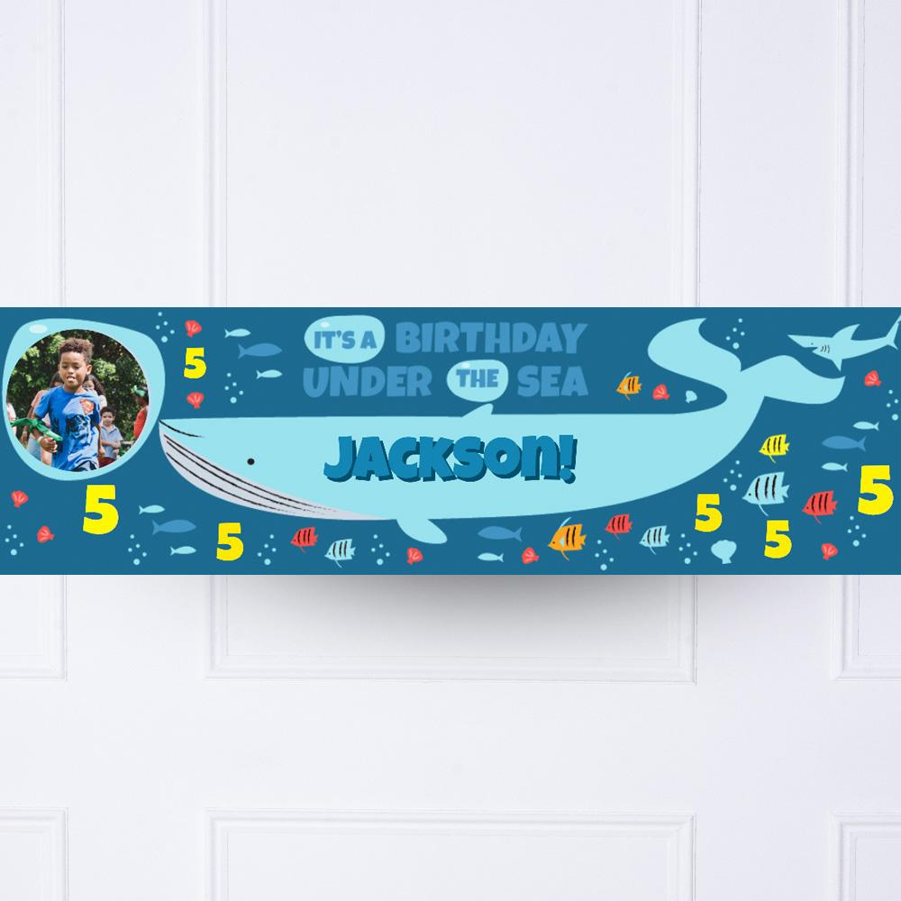 Under The Sea Personalised Party Banner
