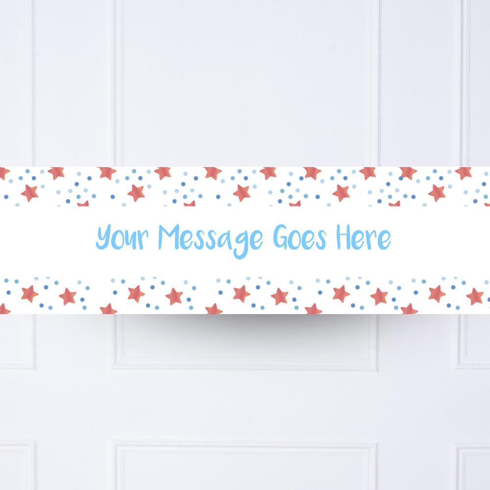 Blue Twinkle Personalised Party Banner