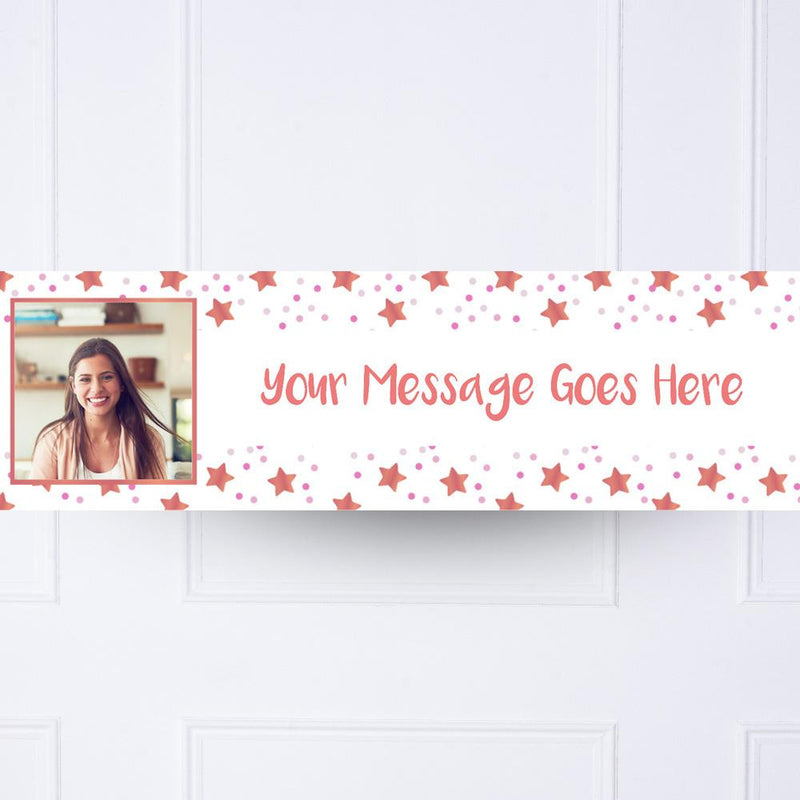 Pink Twinkle Personalised Party Banner