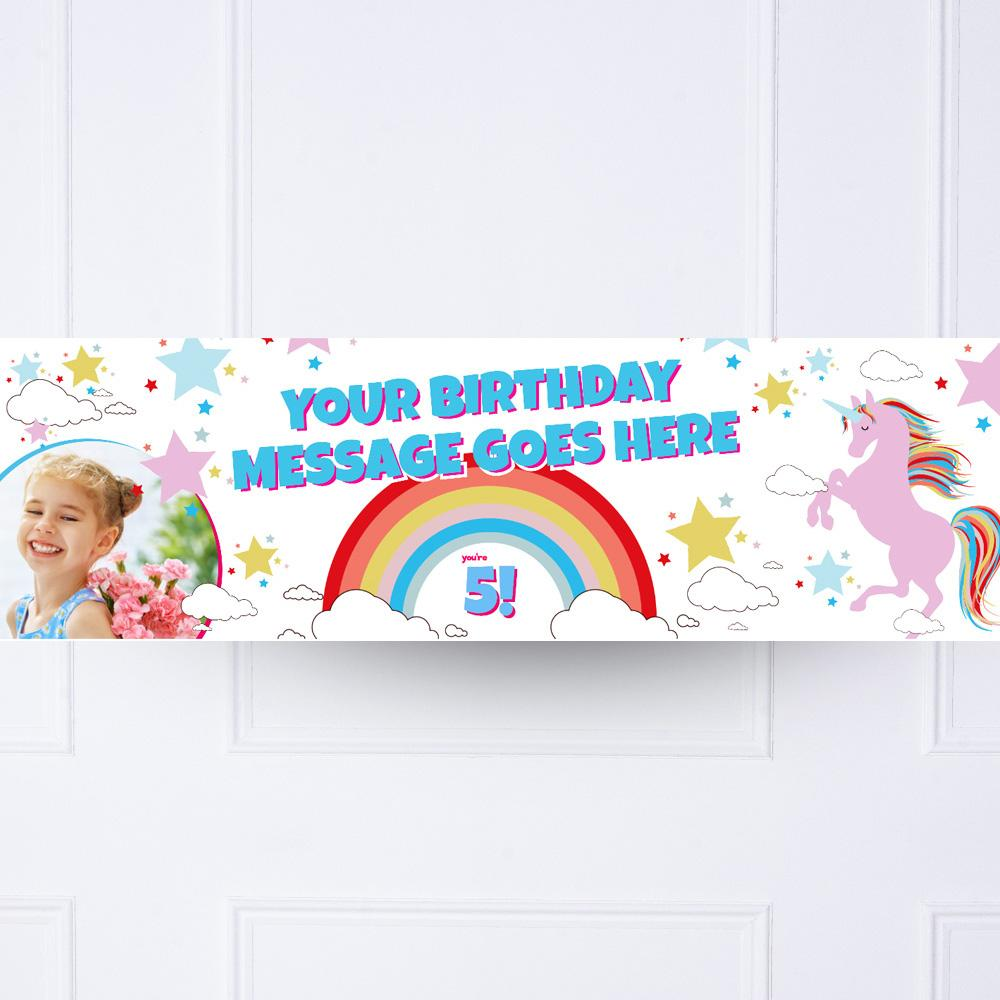 Unicorn Magic Personalised Party Banner