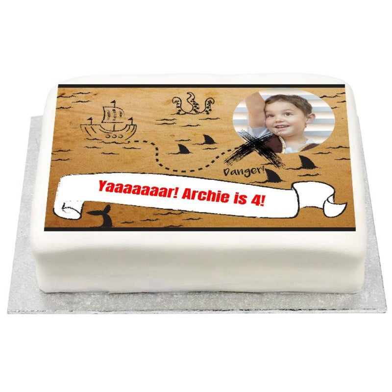Personalised Photo Cake - Pirate Party