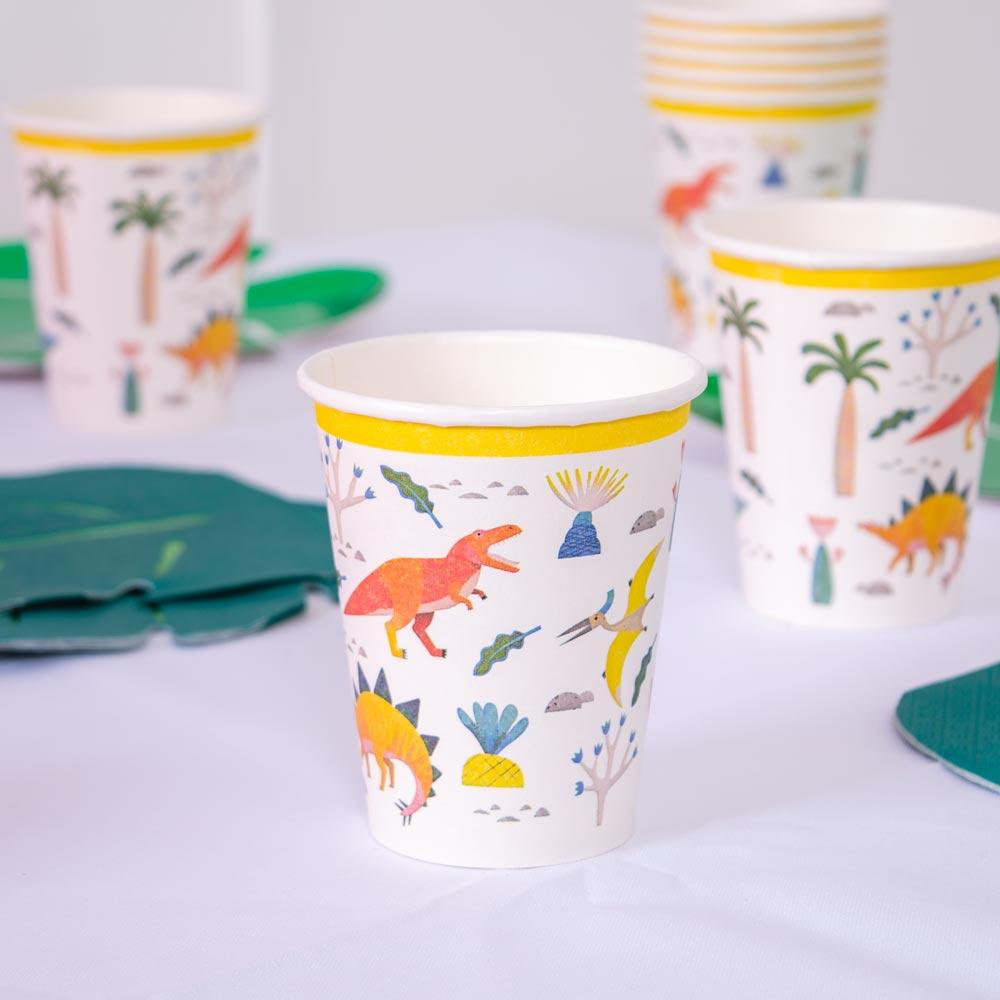 Party Dinosaur - Paper Party Cup (x8)