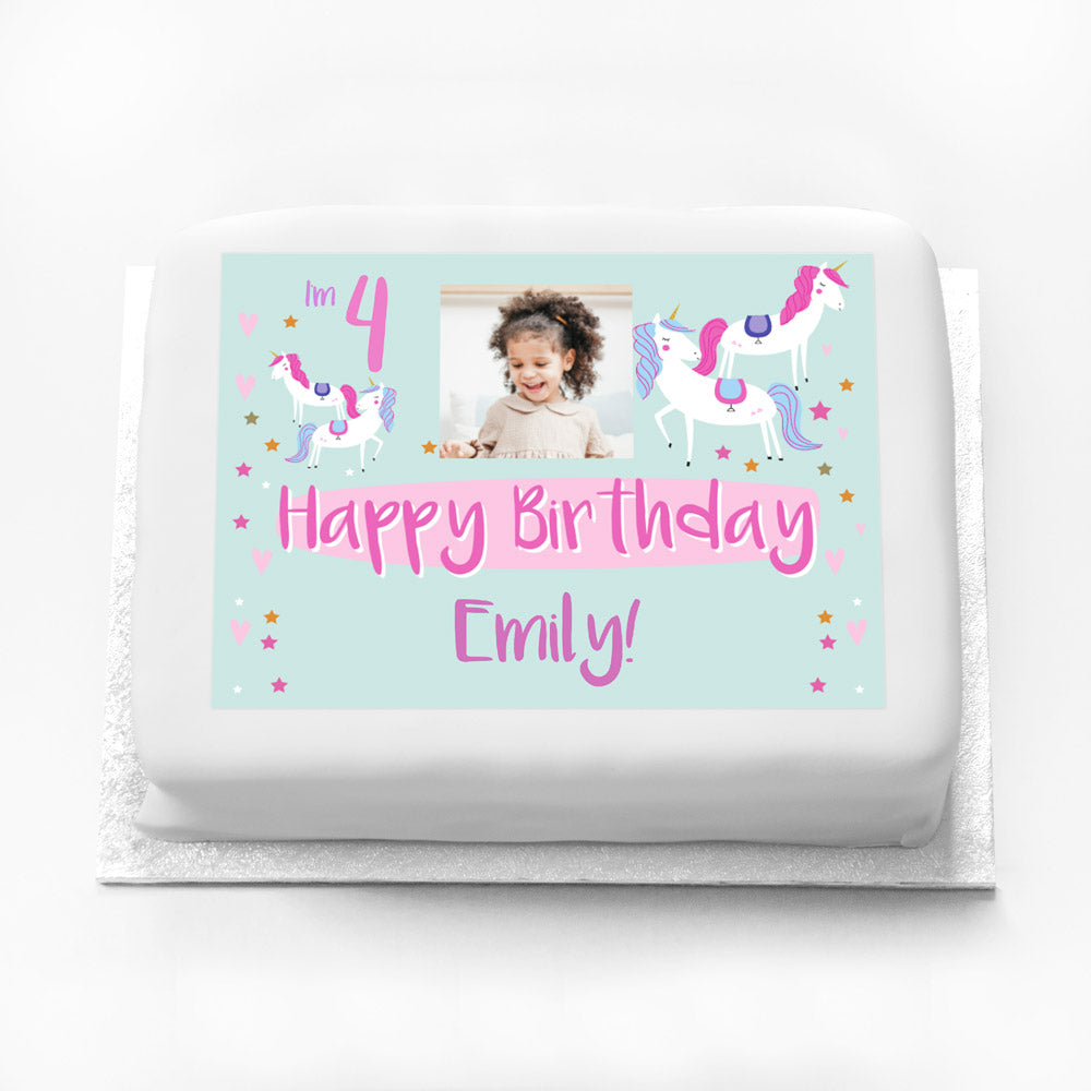 Personalised Photo Cake - Unicorn Party