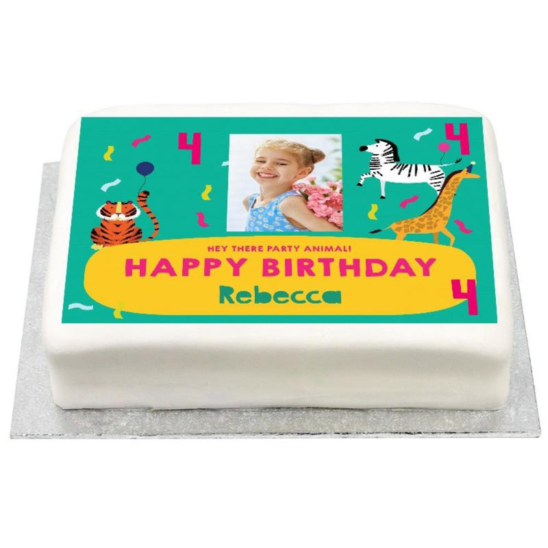 Personalised Photo Cake - Party Animals