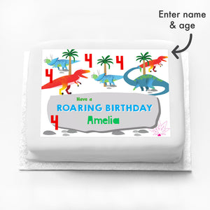 Personalised Photo Cake - Party Dino