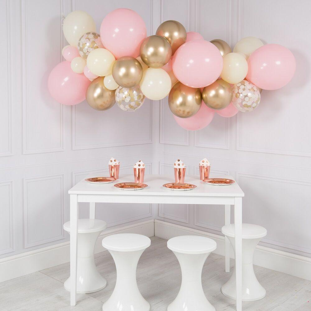 Balloon Cloud - Pink Pastel & Gold