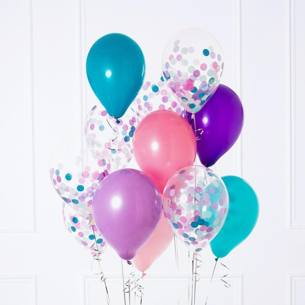 Confetti Balloon Bunch - Mermaids