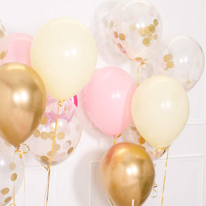 Confetti Balloon Bunch - Pink Pastel & Gold